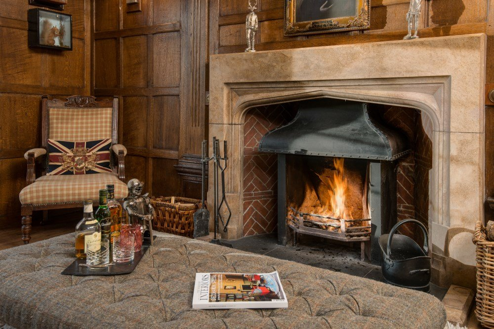 mid-winter break scotland roaring fire